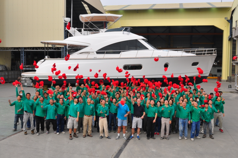 Belize Motoryachts launch of hull number 10