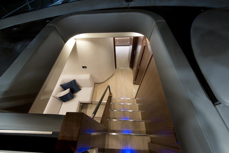 Riviera 6000 Sports Yacht Atrium Staircase