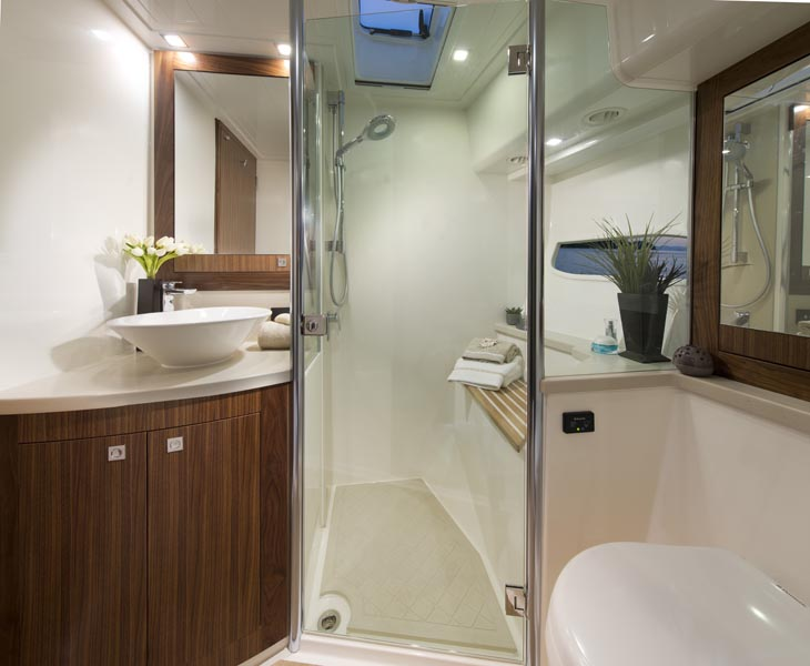 Riviera 6000 Sports Yacht Head Guest Bathroom